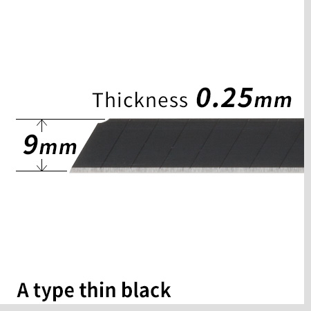 A type thin black blade